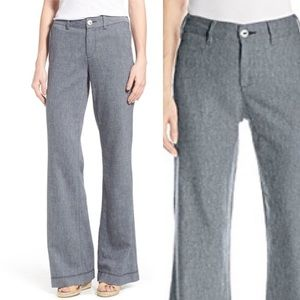 NWT NYDJ Claire Trousers Cotton Linen Blend